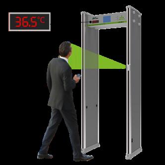 Control de accesos por temperatura con arco detector