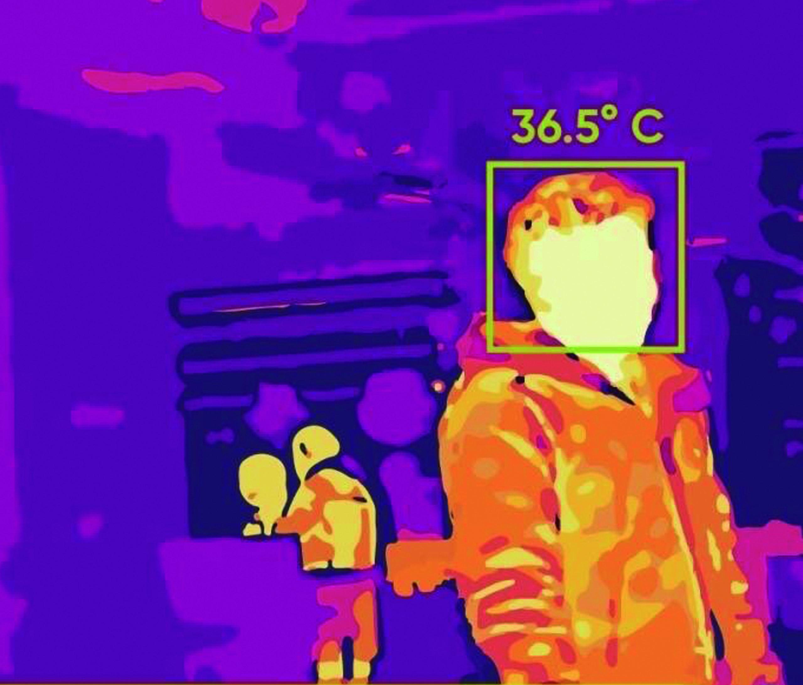 Imagen de cámara termográfica
